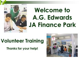 Welcome to A.G. Edwards JA Finance Park