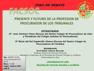 UNIVERSIDAD DE JAEN Facultad de Ciencias Sociales y Jurídicas