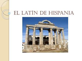 El lat�n de Hispania