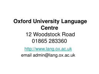 Language centre courses for undergraduate students