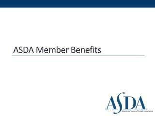 ASDA Member Benefits