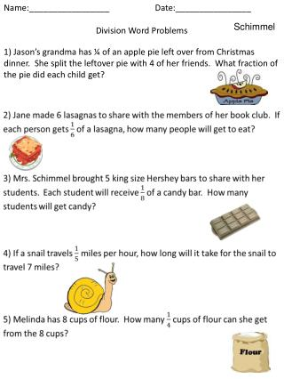 Name:_________________Date:________________ Division Word Problems