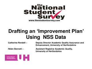Drafting an 'Improvement Plan'  Using  NSS Data