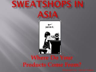 Sweatshops in Asia