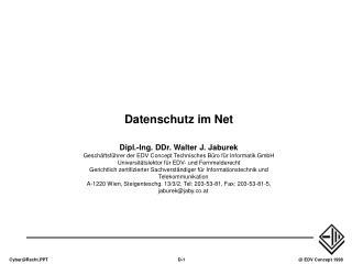 Datenschutz im Net