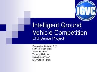 Intelligent Ground Vehicle Competition LTU Senior Project