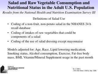 Definitions of Salad Use
