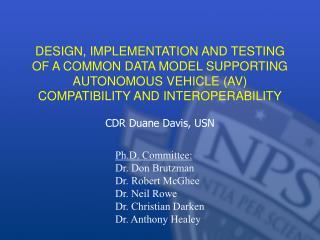 CDR Duane Davis, USN