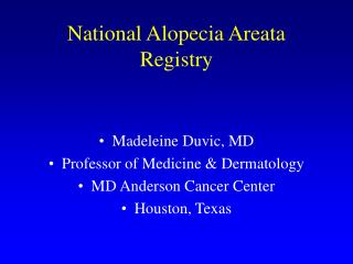 National Alopecia Areata Registry