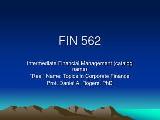 FIN 562