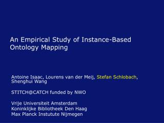 An Empirical Study of Instance-Based Ontology Mapping