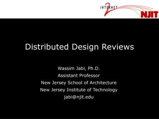 Distributed Design Reviews