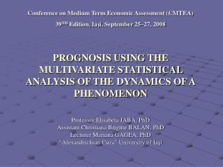 Conference on Medium Term Economic Assessment (CMTEA)