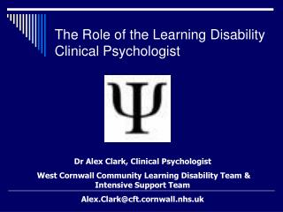 The Role of the Learning Disability Clinical Psychologist