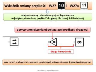 Wskaźnik zmiany prędkości   W27            i   W27a