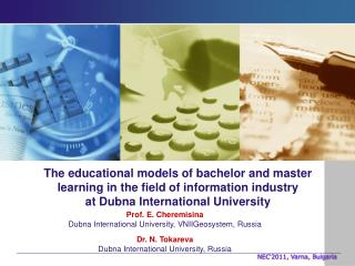 The educational models of bachelor and master learning in the field of information  industry