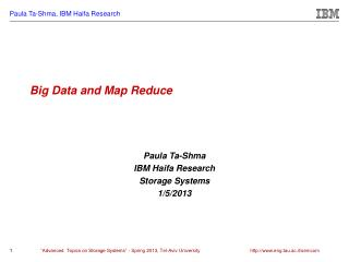 Big Data and Map Reduce