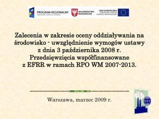 Warszawa, marzec 2009 r.
