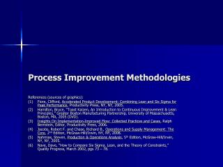 Process Improvement Methodologies