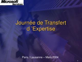 Journée de Transfert  d'Expertise