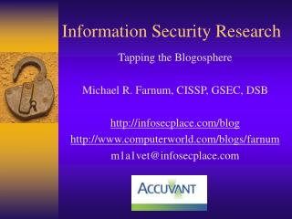 Information Security Research