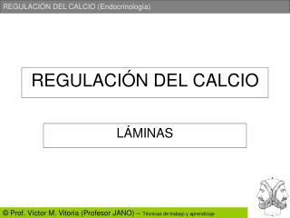 REGULACI ÓN DEL CALCIO
