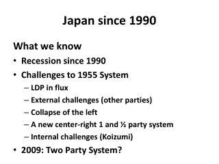 Japan since 1990