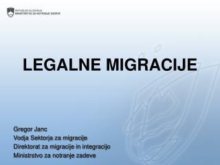 LEGALNE MIGRACIJE