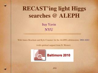 RECAST'ing light Higgs searches  @ ALEPH