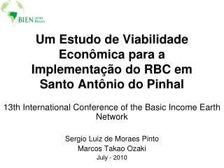 Um Estudo de Viabilidade Econômica para a Implementação do RBC em Santo Antônio do Pinhal