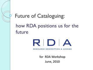 Future of Cataloguing: