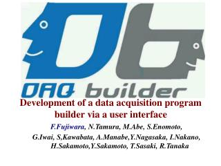 Development of a data acquisition program builder via a user interface