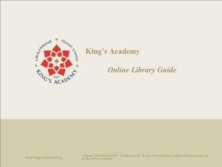 King's Academy Online Library Guide