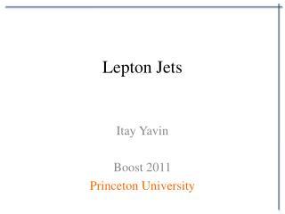 Lepton Jets