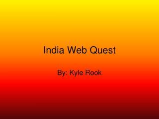 India Web Quest