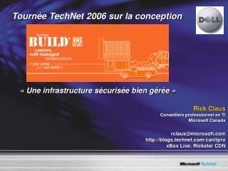 Tourn�e TechNet 2006 sur la conception