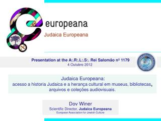 Presentation at the  A:.R:.L:.S:. Rei Salomão nº 1179  4 Outubro 2012