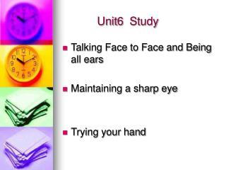 Unit6  Study