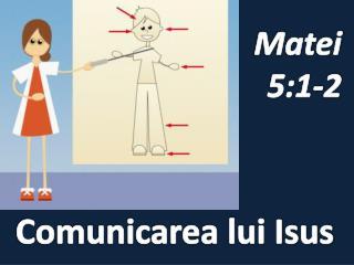 Comunicarea lui Isus