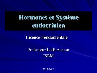 Hormones et Syst�me endocrinien