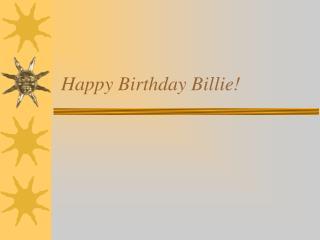 Happy Birthday Billie!