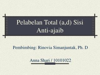 Pelabelan Total (a,d) Sisi  Anti-ajaib