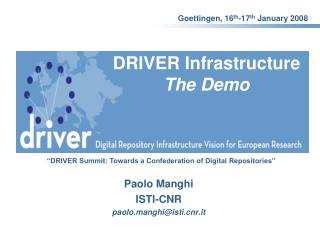 DRIVER Infrastructure The Demo