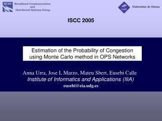 Estimation of the Probability of Congestion using Monte Carlo method in OPS Networks