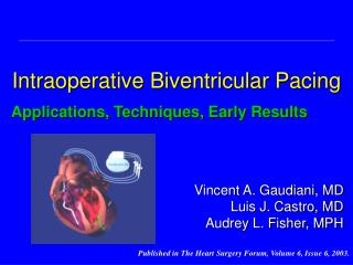 Intraoperative Biventricular Pacing