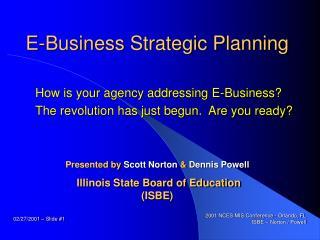 E-Business Strategic Planning