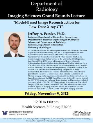 Department of    Radiology Imaging Sciences  Grand Rounds Lecture