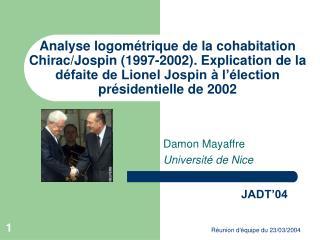 Damon Mayaffre Université de Nice