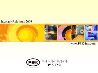 Investor Relations 2003