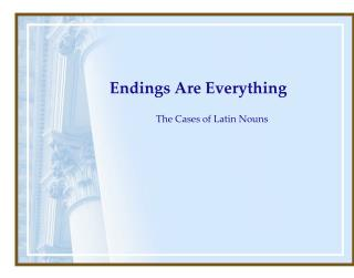 Endings Are Everything